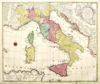 Italia annexis insulis Sicilia, Sardinia et Corsica secundum obfervationes ...