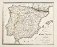 Karte von Spanien und Portugal