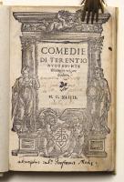 Comedie di Terentio nuovamente di latino in volgare tradotte.
