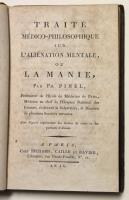 Traité médico-philosophique sur 'alienation mentale ou la manie