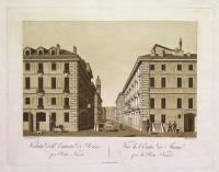 Veduta dell'entrata di Torino per Porta Nuova (ripetuto in francese)