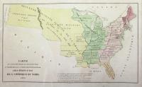 Carte de l'adjonction progressive des divers états au territoire et à l'Union constitutionnelle des Etats-Unis de l'Amerique du Nord