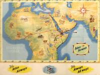 A pictorial map of Aden Airways