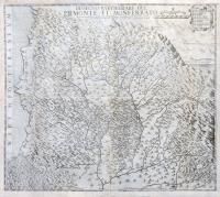 Dissegno particolare del Piemonte et Monferrato, Dominio di Genova, Marchesato di Saluzzo, Principato di Masserano...con l'occasione delle presenti guerre di questo anno 1650