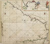 Paskaart der Zeekusten van Italien Tußchen. Piombino, en C. dell'Arme met de Noord- kust, van't Eyland Sicilia.
