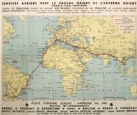 Services aériens vers le proche Orient et l'extrême Orient