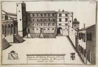 Prospetto del palazzo vescovale di Trevigi ristaurato ed ampliato da Monsignore Sanudo nel 1696.