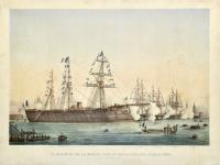 Le ministre de la Marine passe en revue l'escadre d'évolutions (Toulon le 9 octobre 1864)
