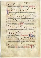 Foglio di Antifonario Gregoriano